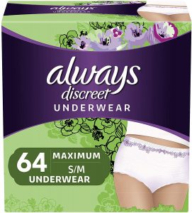 Always Discreet Postpartum Underwear