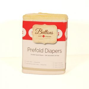 Buttons Diapers Unbleached Organic Prefolds