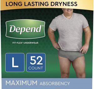 Depend Fit-Flex Disposable Incontinence Underwear, Men