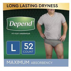 Depend Fit-Flex Underwear For Men