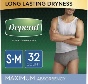 Depend Fit-Flex Underwear For Men. S/M