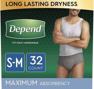 Depend Fit-Flex Underwear For Men. S/M