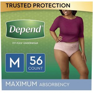 Depend Fit-Flex Underwear For Women, M Best Pull Up Diapers For Adults
