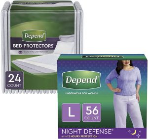 Depend Night Defence Underwear & Overnight Bed Protectors