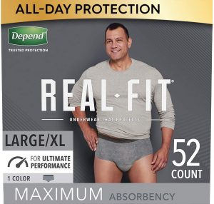 Depend Real-Fit Underwear For Men, L/XL