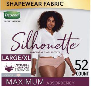 Depend Silhouette Underwear For Women, L/XL
