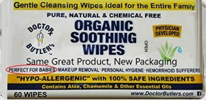 Doctor Butler's Organic Soothing Wipes