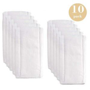 Fasoar Prefold Baby Cloth Diaper Inserts
