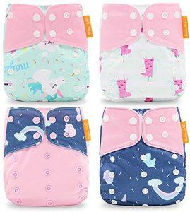 HahaGo 4PCS Cloth Diaper