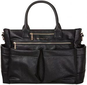 Honest Stylish Tote Black PVC Bag