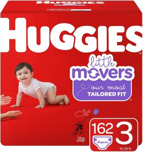 Huggies 162 CT Little Movers Baby Diapers