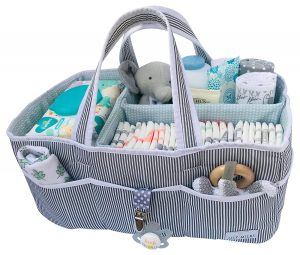 Lily Miles Baby Diaper Caddy With Storage Pockets
