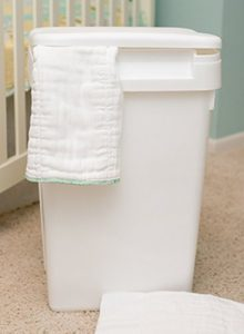 Natural Baby Plastic Cloth Diaper Pail