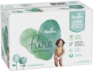 Pampers Pure Protection Hypoallergenic Disposable Diapers