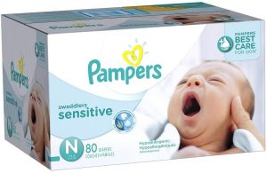 Pampers Swaddlers Sensitive Disposable Baby Diapers