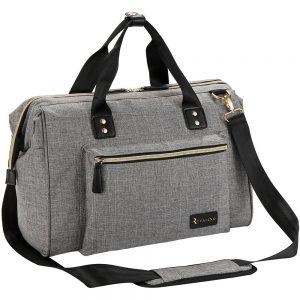 Ruvalino Tote Style Large Grey Diaper Bag