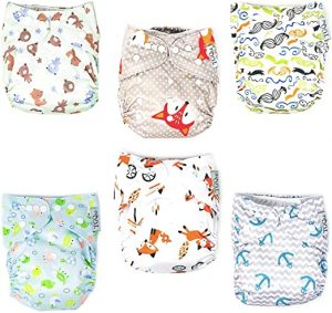 Tgq Kidz Adjustable Reusable Cloth Diapers