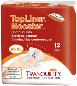 Tranquility TopLiner Disposable Absorbent Booster Contour Pads
