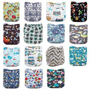 WO-WA 15pcs Baby Diapers