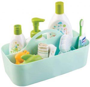 mDesign Plastic Portable Nursery Organizer
