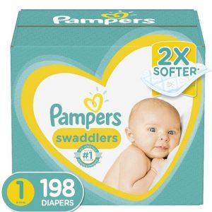 198 Count Newborn Swaddlers Best Baby Diaper