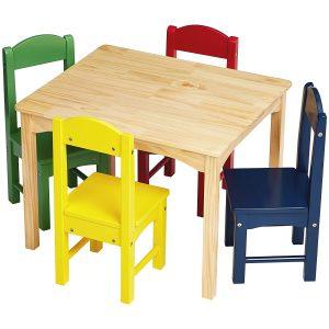Amazon Colorful Kids Wood Table