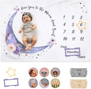 Babebay Baby Monthly Milestone Blankets