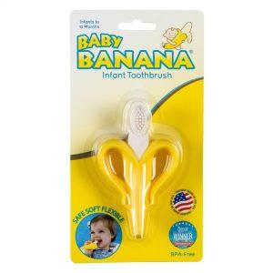 Baby Banana's Yellow Toothbrush Best Baby Toothbrushes