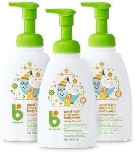 Babyganics Orange Blossom 3 Pack Body Wash