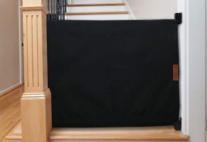 Banister To Wall Baby Safety Gate Black