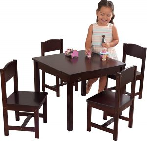 Brown Colored Farmhouse Table and Chair