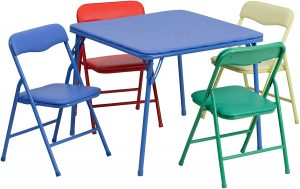 Colorful 5-Piece Folding Table and Chair Set