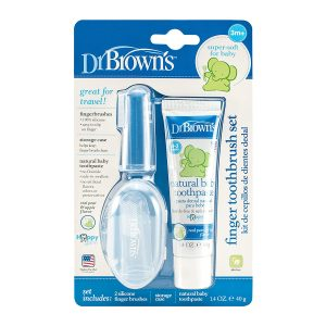 Dr. Brown's Finger Toothbrush and Toothpaste Set