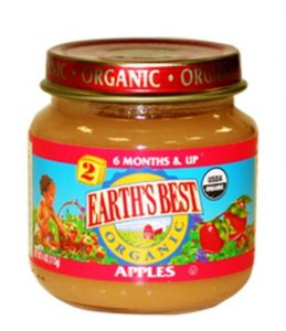 Earth's Best 2nd Apples, 4 Ounce Jars