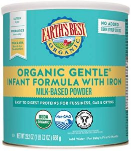 Earth's Best Organic Gentle Infant Formula