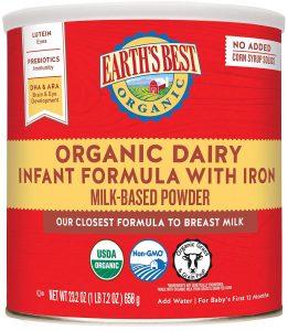 Earth's Best Organic Milk-Based Infant Formula