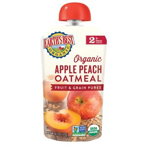 Earth's Best Organic Stage 2, Apple Peach and Oatmeal