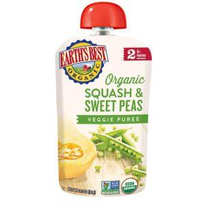 Earth's Best Squash Sweet Peas