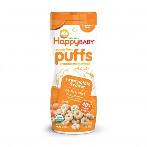 Happy Baby Organic Baby Food Superfood Puffs Sweet Potato & Carrot