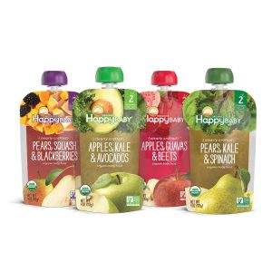 Happy Baby Organic Clearly Crafted Stage 2 Baby Food Variety Pack