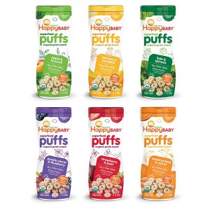 Happy Baby Organic Superfood Puffs Assortment Variety Packs 2.1 Ounce