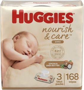 Huggies Nourish & Care Baby Wipes