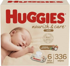 Huggies Nourish & Care Scented Baby Wipes