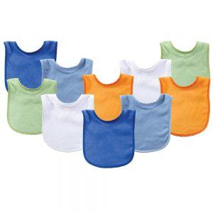 Luvable Friends Unisex Baby Cotton Terry Bibs
