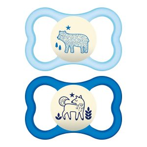 MAM Pack Of 2 Air Night Pacifiers