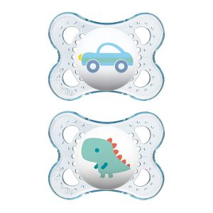 MAM Pack Of 2 Clear Collection Pacifiers