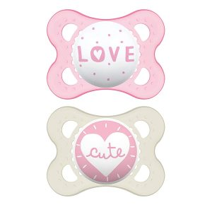 MAM Pack Of 2 Pink Pacifiers