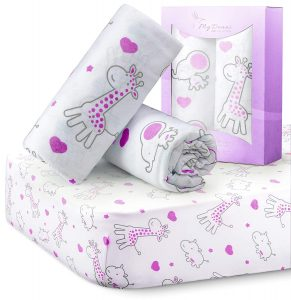 MYDEANI Fitted Crib Sheets Set
