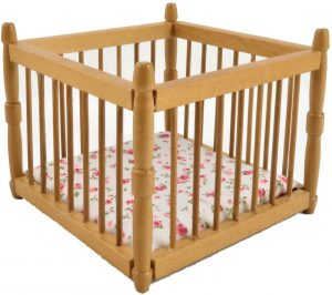 Melody Jane Wooden Miniature Playpen