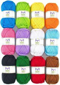 Mira Handcrafts Acrylic, Multicolor Yarn
